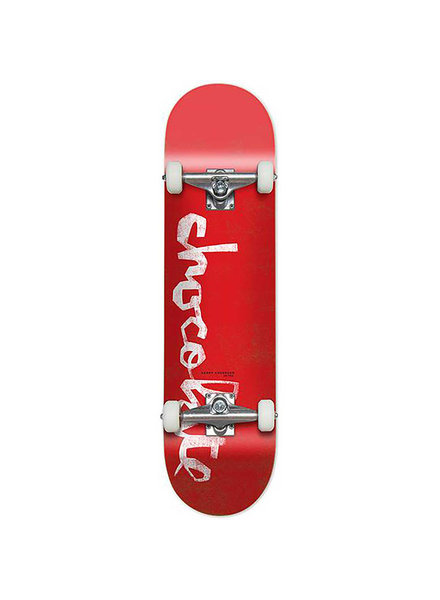 Chocolate Anderson Og Chunk Complete Skateboard Red 8.0