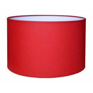 RamLux Lampenschirm 40 cm Zylinder CHINTZ Rot