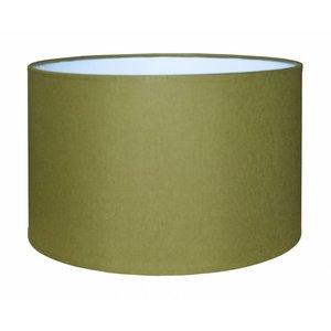 RamLux Lampenschirm 40 cm Zylinder CHINTZ Olivgrün