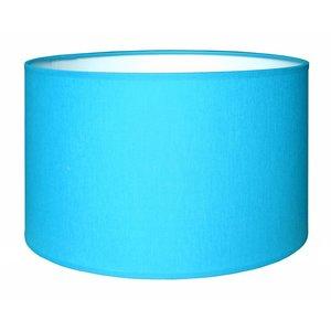 RamLux Lampenschirm 50 cm Zylinder CHINTZ Aqua Blau