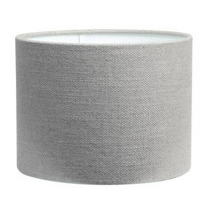 RamLux Lampenschirm 40 cm Zylinder LIVIGNO Hellgrau