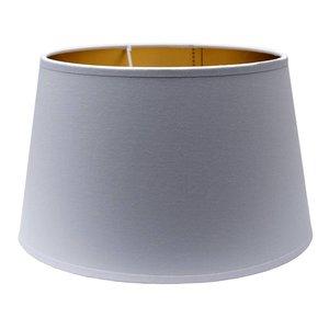 RamLux Lampenkap 35 cm Drum POLYCOTTON Wit - Goud