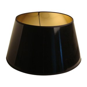 Light & Living Lampenkap 35 cm Drum LAK Zwart