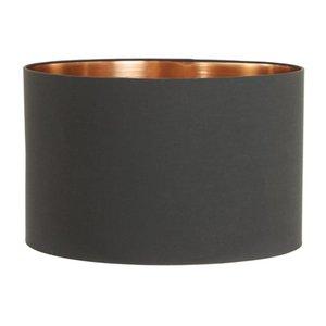 Light & Living Lampenkap 40 cm Cilinder MIRA Zwart - Rosé Goud