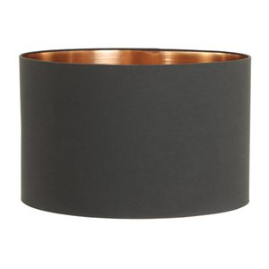 Light & Living Lampenkap 50 cm Cilinder MIRA Zwart - Rosé Goud