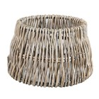 Light & Living Lampenkap 20 cm Drum ROTAN Vertical Weaving Grijs
