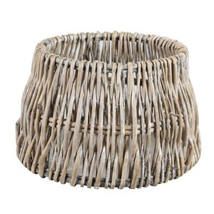 Light & Living Lampenkap 40 cm Drum ROTAN Vertical Weaving Grijs