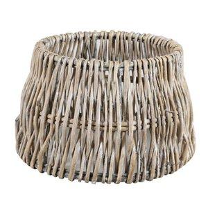 Light & Living Lampenkap 45 cm Drum ROTAN Vertical Weaving Grijs