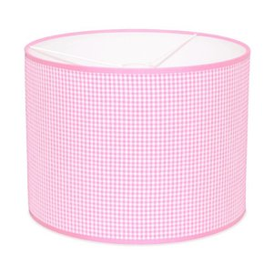 Taftan Lampenkap 35 cm Cilinder Kleine Ruit 3 mm Roze