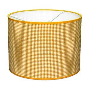 Taftan Lampenkap 35 cm Cilinder Kleine Ruit 3 mm Oranje