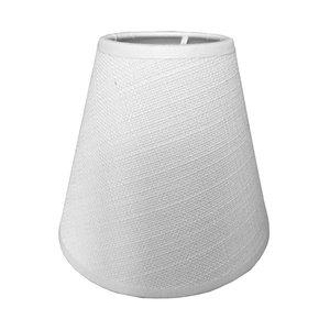 RamLux Lampenschirm Klemme 14 cm SAMI weiß