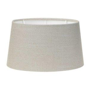 Light & Living Lampenschirm 40 cm Oval LIVIGNO Hellgrau