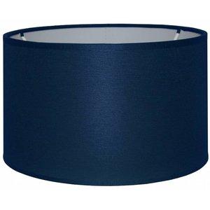RamLux Lampenschirm 50 cm Zylinder CHINTZ Marineblau