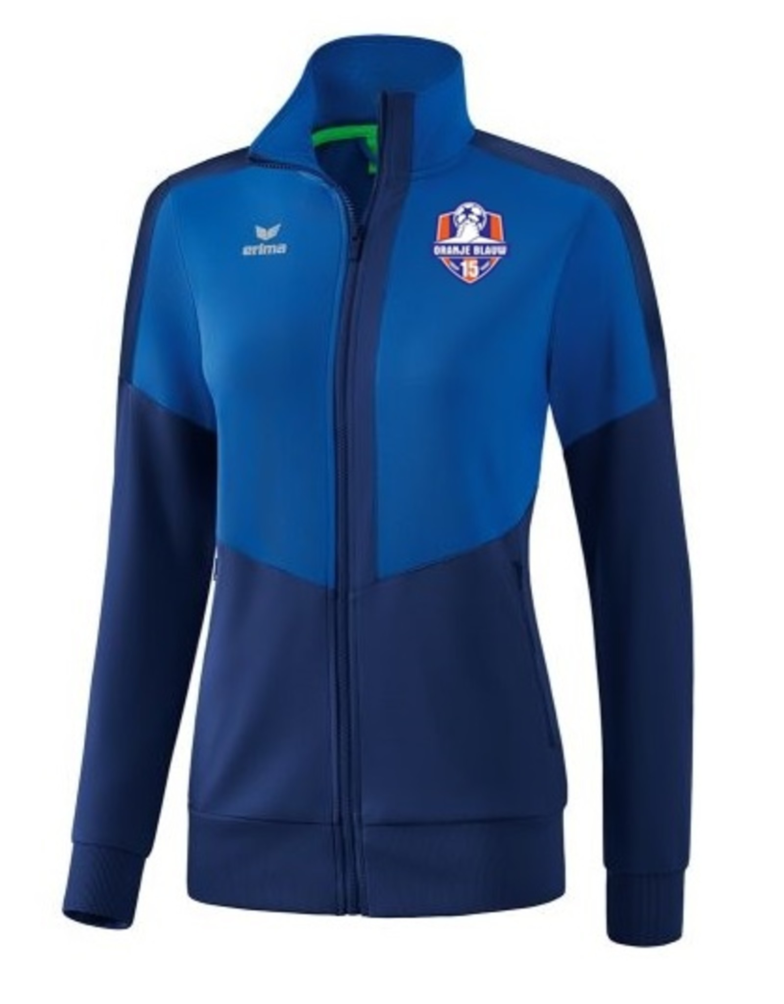 Erima Oranje Blauw'15 dames trainings jack incl. clublogo