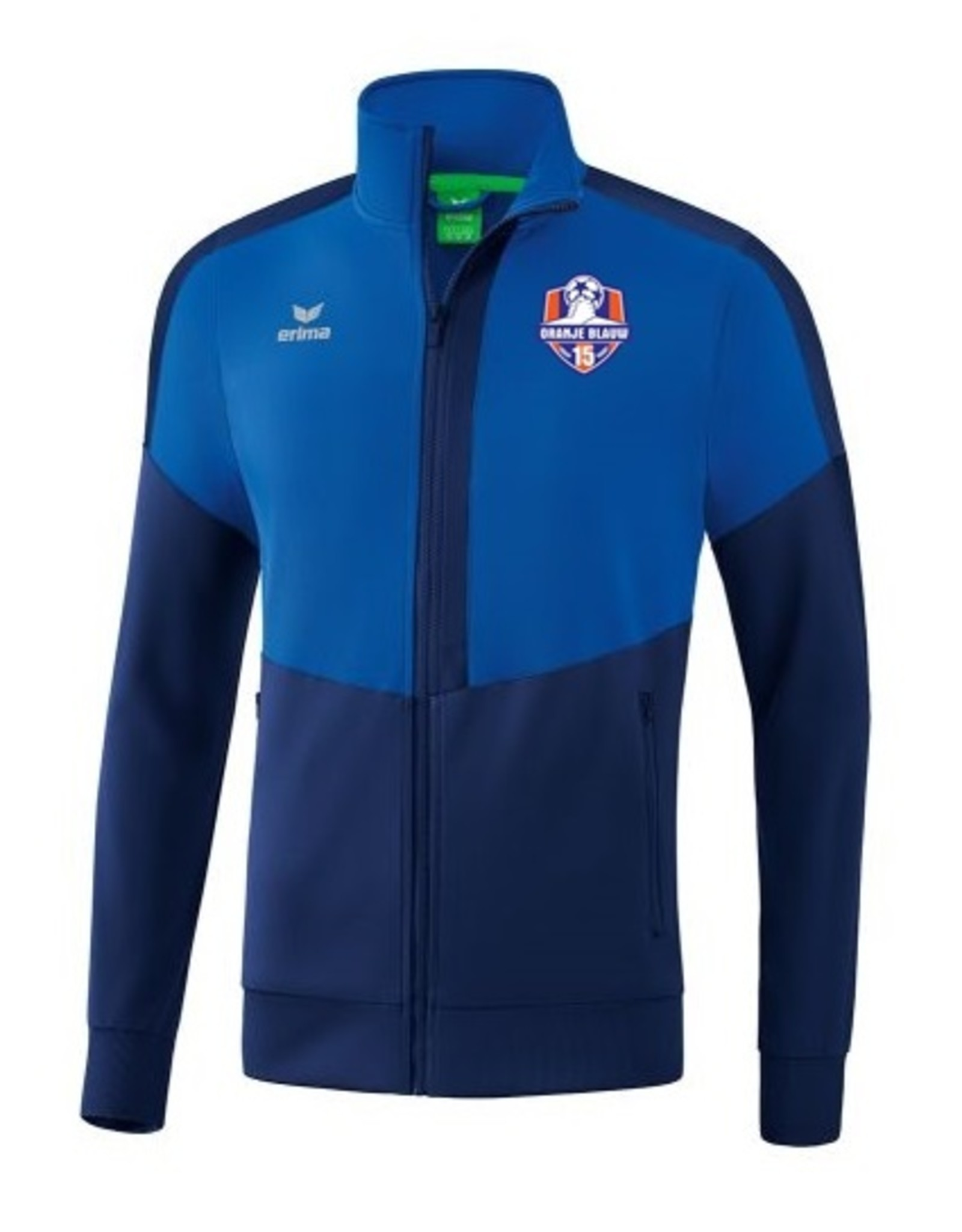 Erima Oranje Blauw'15 JUNIOR trainings jack incl. clublogo