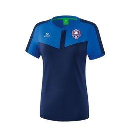 Erima Oranje blauw'15 dames trainings shirt inclusief clublogo