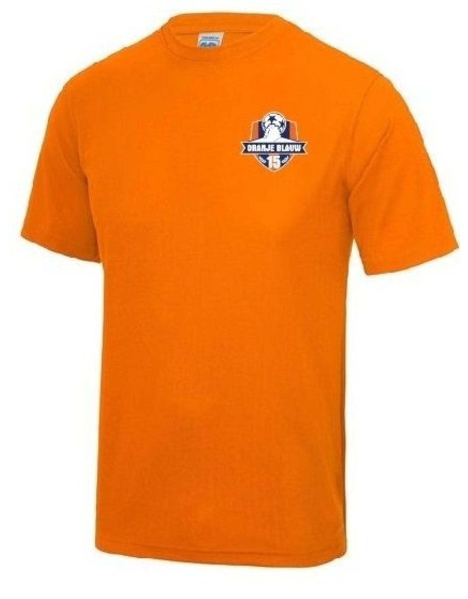 Oranje Blauw'15 inloopshirt inclusief logo