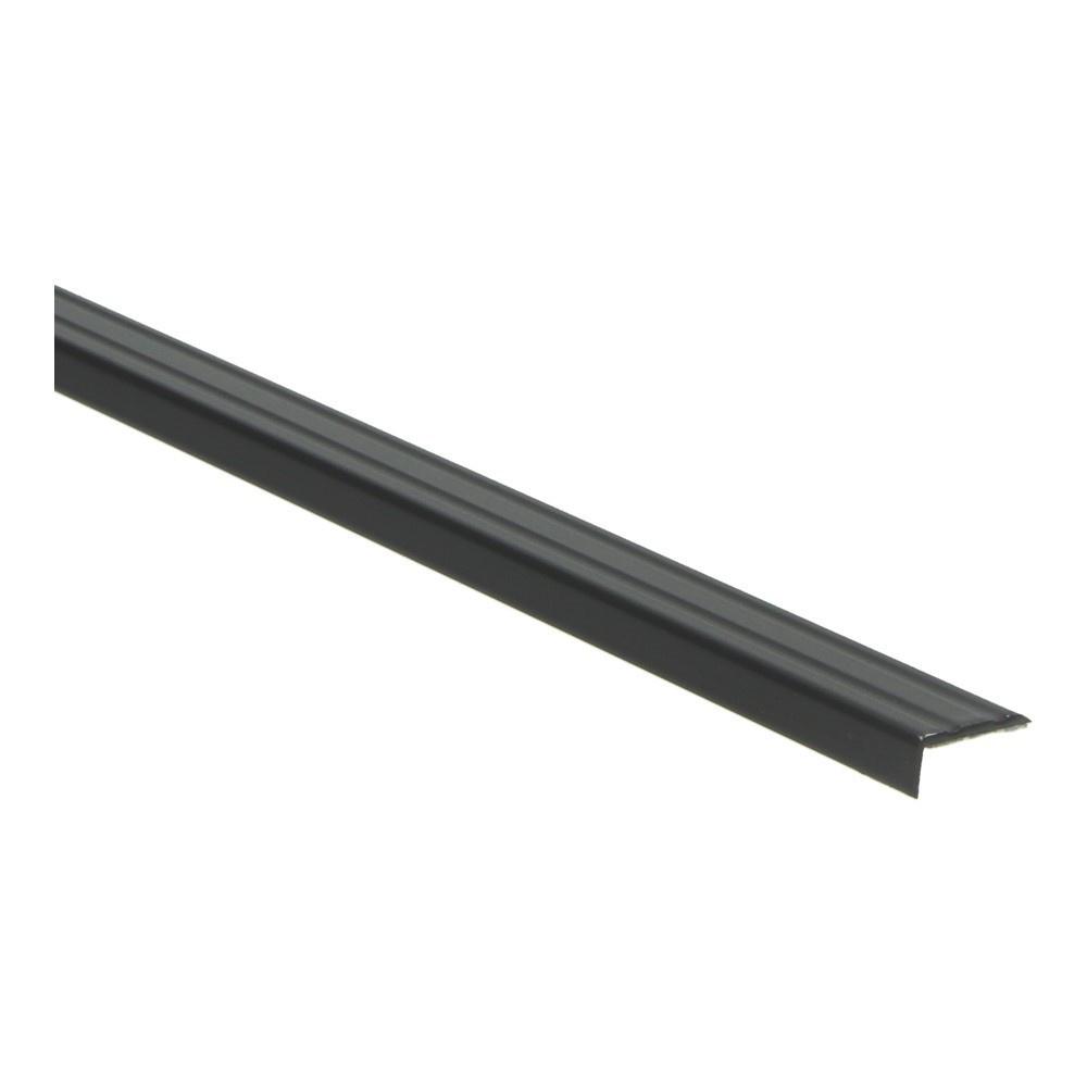 Hoeklijnprofiel zelfkl. 10 mm zwart 1 MTR