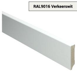 MDF Recht  plint 70x15 voorgelakt RAL 9016