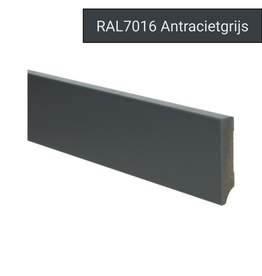 MDF Moderne plint 70x15 voorgelakt RAL 7016