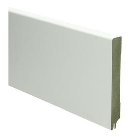MDF Moderne plint 120x15 wit uitsparing