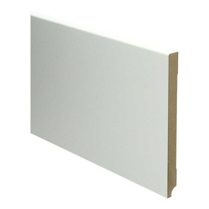 MDF Moderne plint 190x15 wit voorgelakt RAL 9010