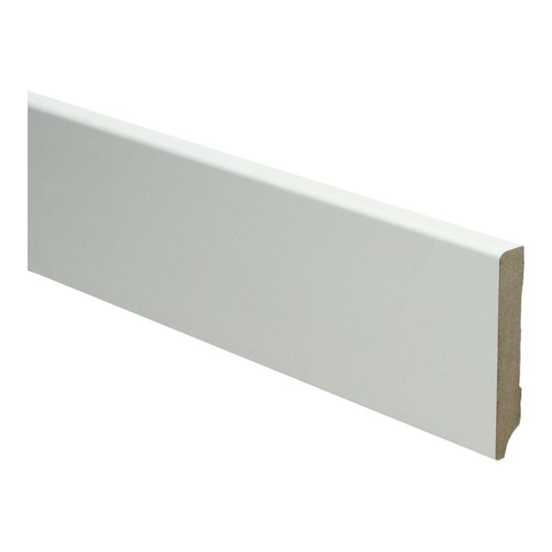 MDF Moderne plint 70x12 wit voorgelakt RAL 9010