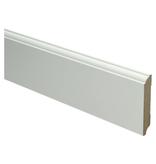 MDF Eigentijdse plint 70x12 wit voorgelakt. RAL 9010