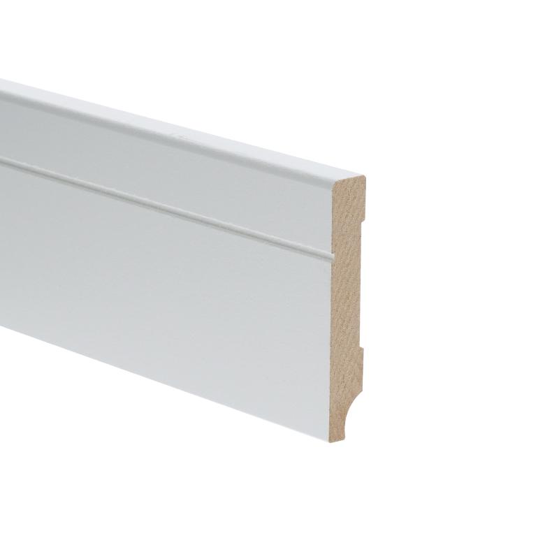 MDF Tijdloze plint 70x12 wit voorgelakt RAL 9010