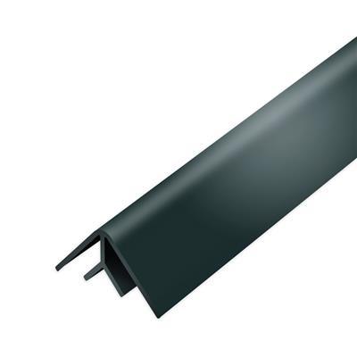 Binnenhoek zwart, 260cm lang,