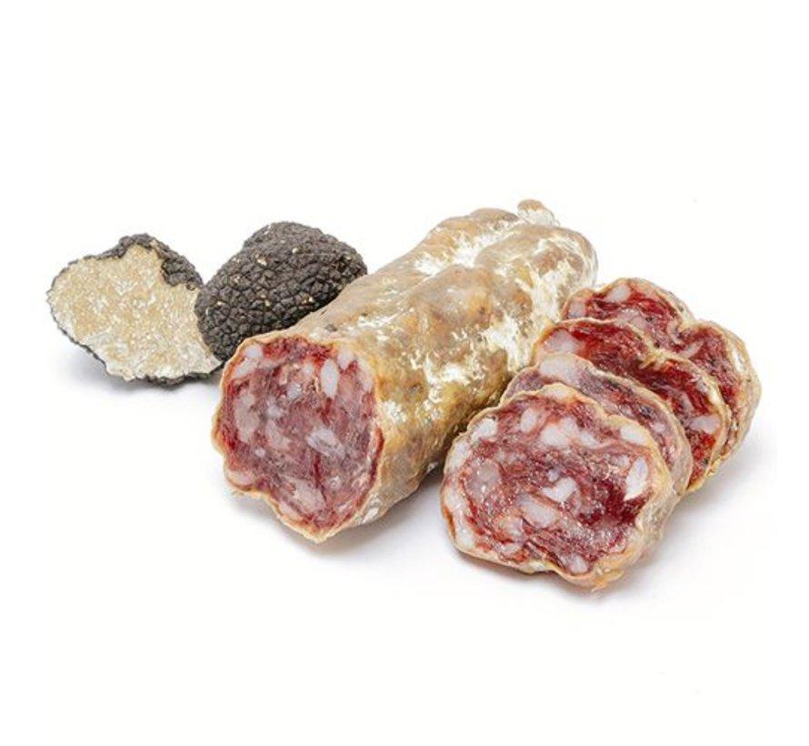 Top kwaliteit Franse worst met echte zwarte truffel.