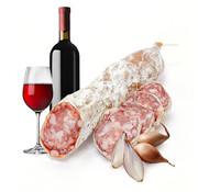 Droge worst met rode wijn & sjalot