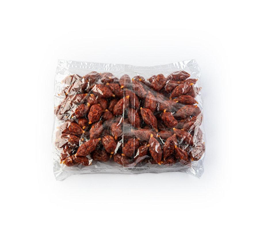Gedroogde mini chorizo worstjes pikant