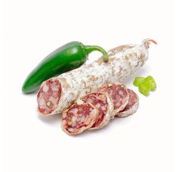 Droge worst van eend met groene peper