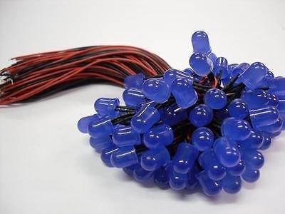 5mm Pre Wired Led Gekleurd Diffuus Blauw