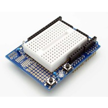 Prototype shield Arduino uno with mini breadboard