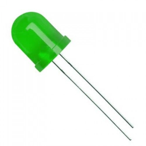 10mm Round Led Colored Diffused Green