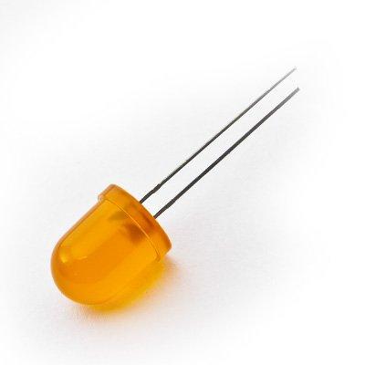 10mm Ronde Led Gekleurd Diffuus Oranje