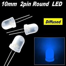 Ronde Led Wit Diffuus Blauw 10mm