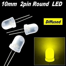 10mm Round Led White Diffused Warm White