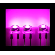 8mm Straw Hat Led Pink Clear