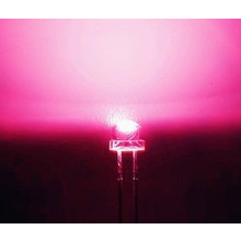 5mm Straw Hat Led Roze  Helder