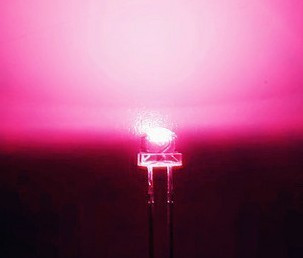 5mm Straw Hat Led Clear Pink
