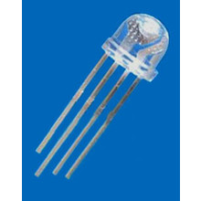 5mm Straw Hat Led Clear RGB Common Anode