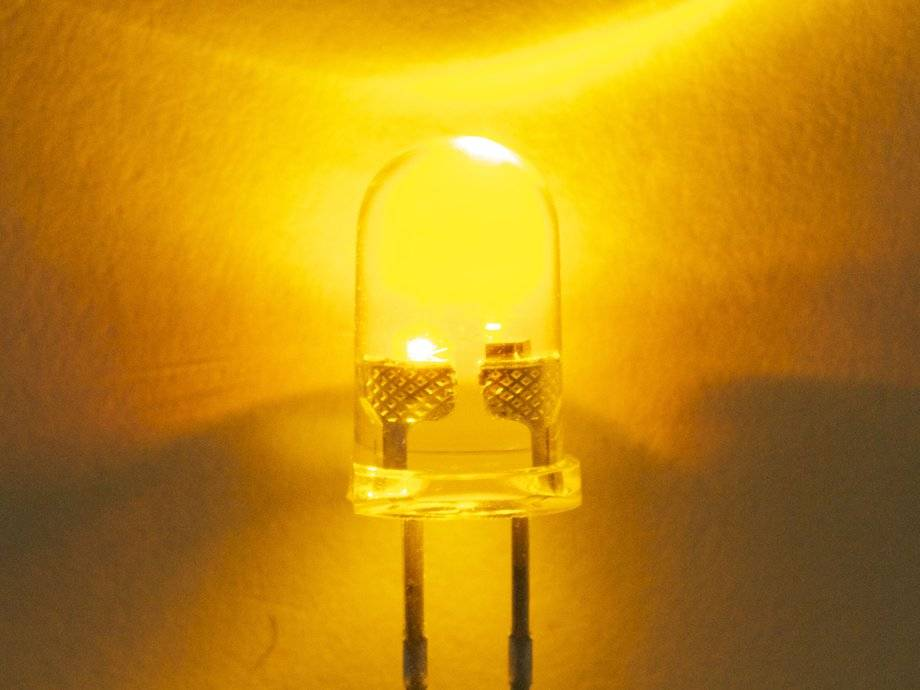 5mm Round Led Clear Yellow Flash