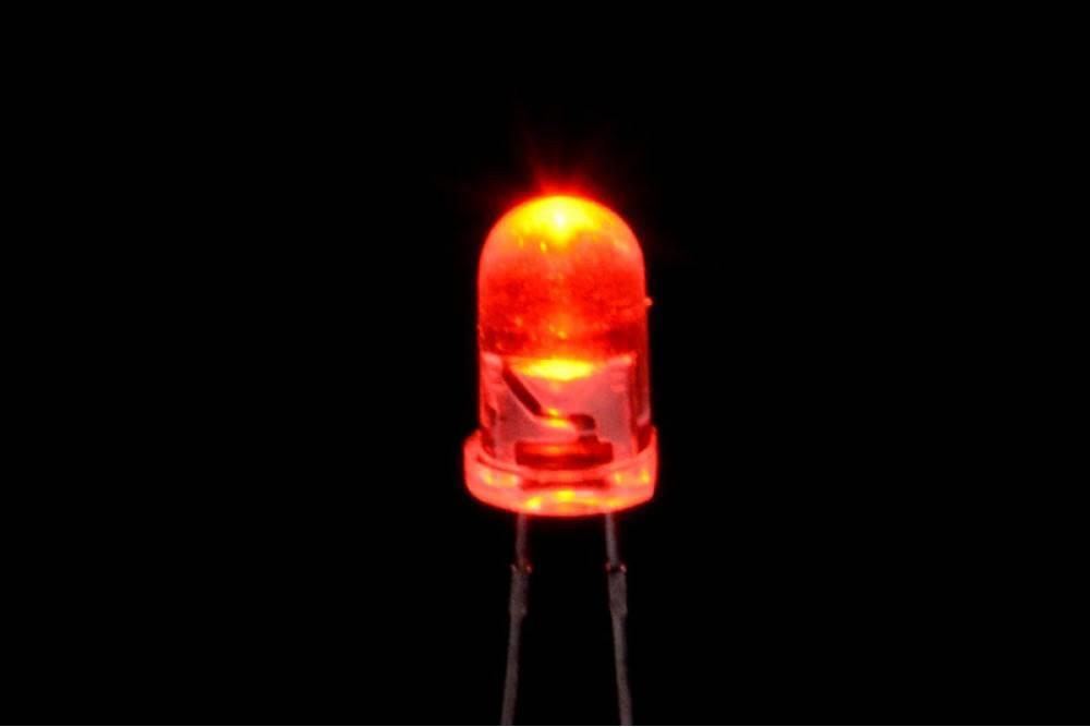 5mm Round Led Clear Orange Flash