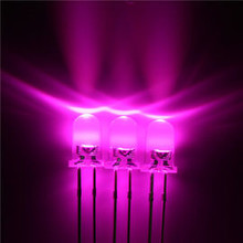3mm Round Led Clear Pink