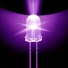 3mm Round Led Clear UV / Purple