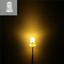3mm Round Led White Diffused Warm White