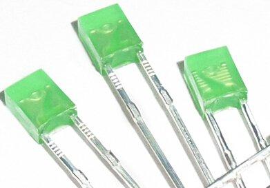 2x3x4mm Led Gekleurd Diffuus Groen